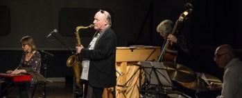 Andrea Vicari, Mornington Lockett, Eric Ford & Marianne Windham performing at Fleet Jazz (Nov 16). Image courtesy of David Fisher (Aldershot, Farnham & Fleet Camera Club).