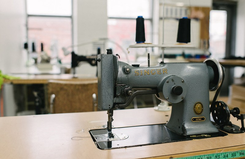 Vintage sewing machine at Fortnight Lingerie