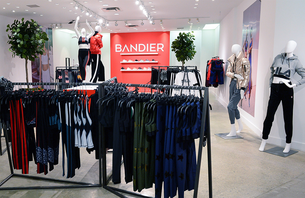 Bandier Holt Renfrew pop-up
