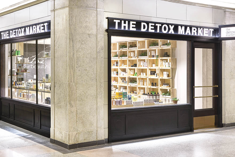 Exterior of The Detox Market's Union Station location