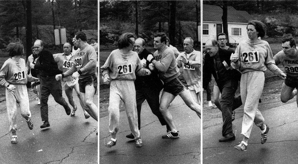 Kathrine Switzer at the 1967 Boston Marathon