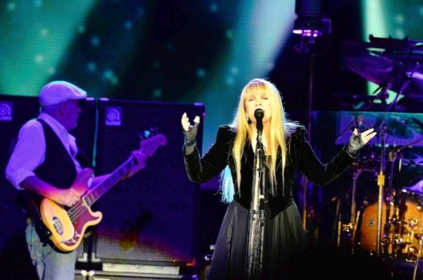 John McVie and Stevie Nicks of Fleetwood Mac perform at the Prudential Center on April 24, 2013 in Newark, New Jersey.