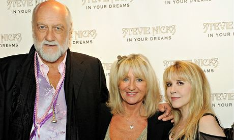Centre stage … Christine McVie, reunited with bandmates Mick Fleetwood, left, and Stevie Nicks, right. Photograph: David M Benett/Getty Images