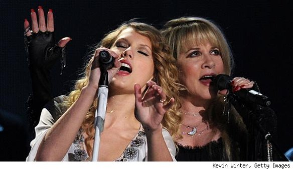 singing with Taylor Swift at the 2010 Grammys