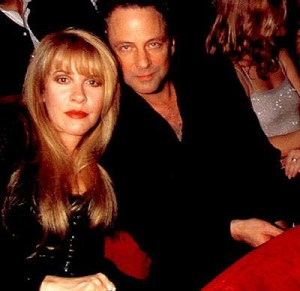 with Lindsey Buckingham at The Grammy Awards 1998