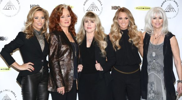 Sheryl Crow, Bonnie Raitt, Stevie Nicks, Carrie Underwood, Emmylou Harris 29th Annual Rock and Roll Hall of Fame Induction Ceremony Photo credit: Andres Otero / WENN