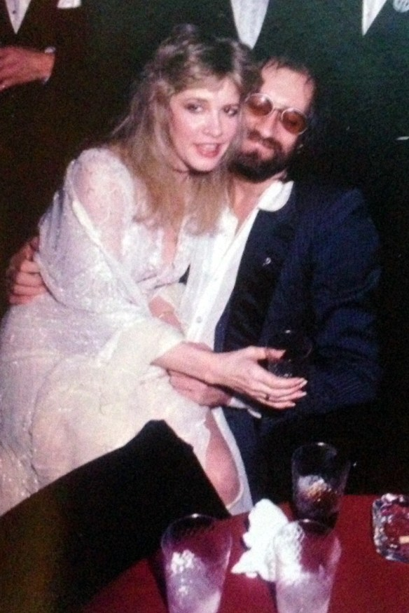 with Micks Fleetwood at the American Music Awards in 1983
