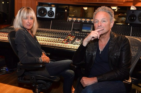 Christine McVie and Lindsey Buckingham of Fleetwood Mac in the studio