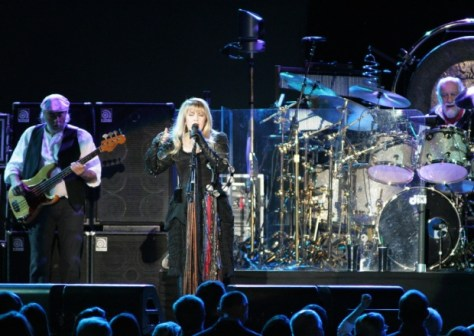 Stevie Nicks leads the show with John McVie (bass) and Mick Fleetwood (drums)