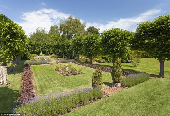 Gardens: McVie joined Fleetwood Mac in 1970, where she joined her husband John McVie, the band's bassist, and drummer Mick Fleetwood. American guitarist Lindsey Buckingham and his singer girlfriend Stevie Nicks were added in 1974. Above, the estate's gardens