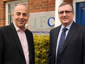Paul Talbot and Tony Donnelly announcing the new partnership between IFC and Goodwood Rental