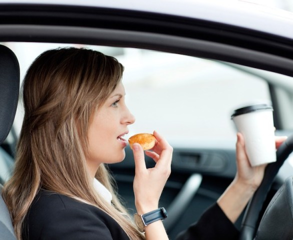 Third of drivers admit to eating behind the wheel
