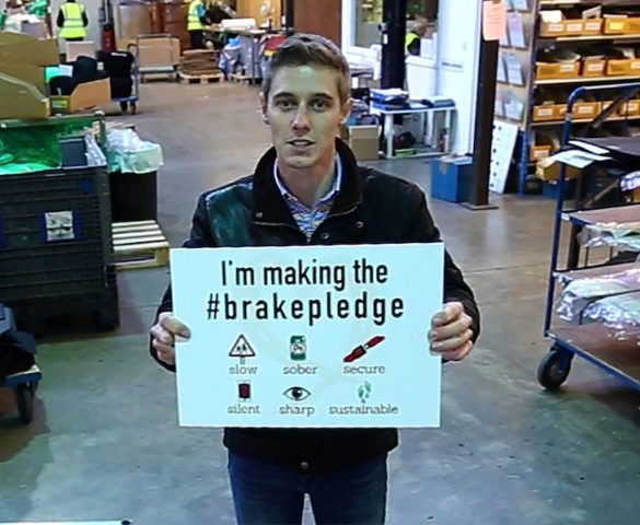 Top racing driver calls on fleet drivers to 'make the pledge' to drive safely