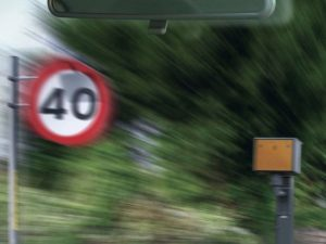 Speed camera by 40mph sign