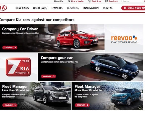 Kia teams up with KeeResources for online comparator tool
