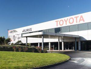Toyota's Burnaston manufacturing plant in Derbyshire