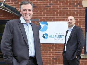 AllFleet Services new Client Services director Jon Burdekin (left) with MD Dave Scobie.