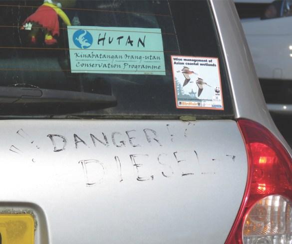 Danger! Diesel.