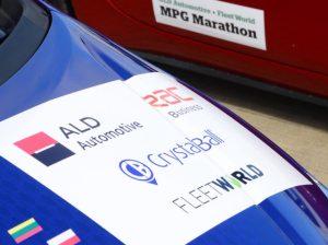 MPG Marathon livery on car