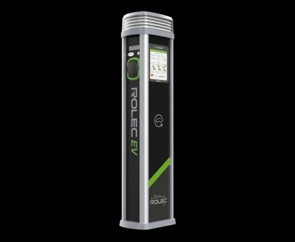 New pedestal charge point launched by Rolec EV