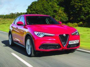 Alfa Romeo Stelvio front three quarter