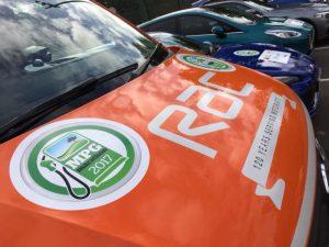 Vehicles lined up for 2017 MPG Marathon