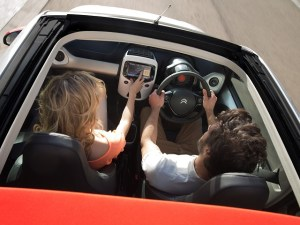 Young people driving