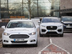Connected car technology has been displayed by Ford, Jaguar Land Rover and Tata Motors European Technical Centre (TMETC) on public roads and car parks in Milton Keynes