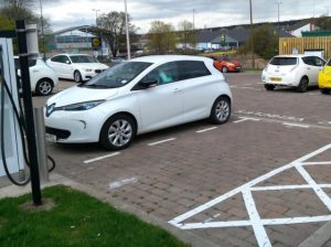 The rapid charging units are helping Dundee City Council to promote electric taxi use