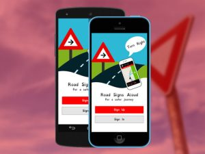 The Road Signs Aloud app is primarily designed for drivers with dyslexia