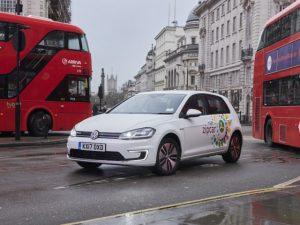 The new Volkswagen e-Golf joins the Zipcar Flex fleet this summer