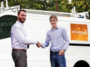 (L-R) Ryan Godfrey, newly appointed head of vComms, with vGroup International managing director James Nash