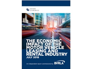 The report shows the size and influence of rental and leasing sector
