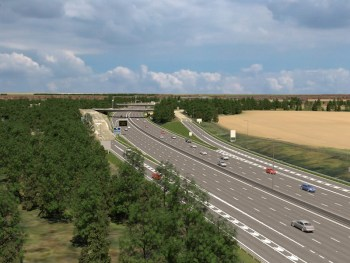 How the M4 will look between junctions 8-9 after the upgrade