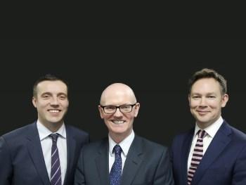 Nexus MD, John Ellis, CEO David Brennan, and finance director, Ian Cherry (left to right)