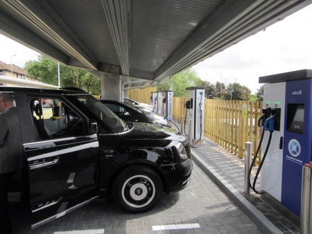 The hub includes six eVolt Raption 50kW Rapid Chargers and three 22kW eVolve chargers