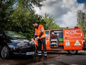 RAC van with electric vehicle
