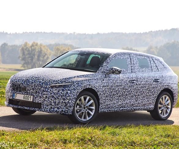 Škoda previews new Scala compact car technology