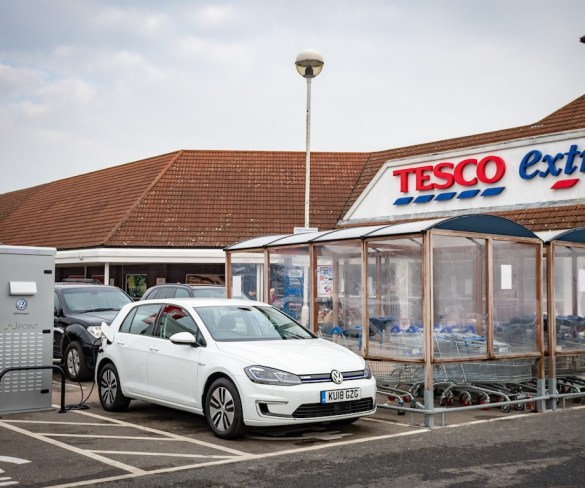 Tesco to kit out stores with 2,400 EV charging bays