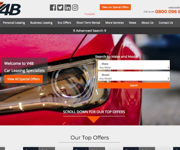 New V4B leasing site includes 'Eco Offers'