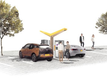 Initially, the hubs will be equipped with two 50kW charge points