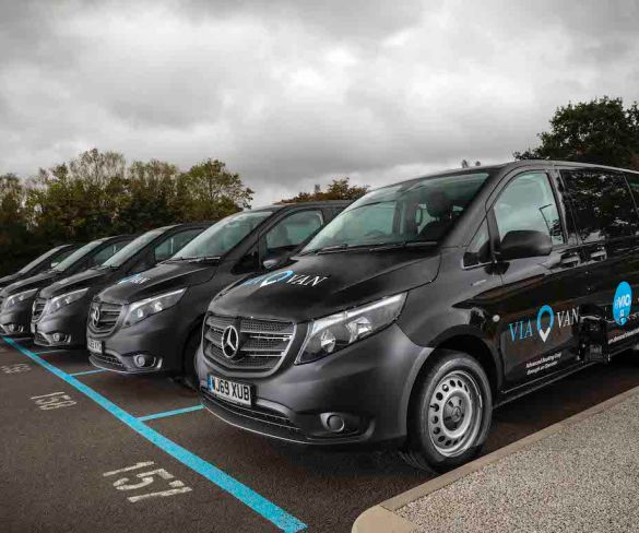 ViaVan introduces 'UK first' fully electric on-demand shared ride service