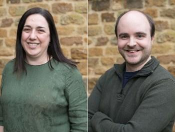Debora Marras, project manager, and Matthew Garrett, programme manager, at Entec Si