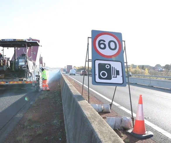 Road works speed limit increased to 60mph
