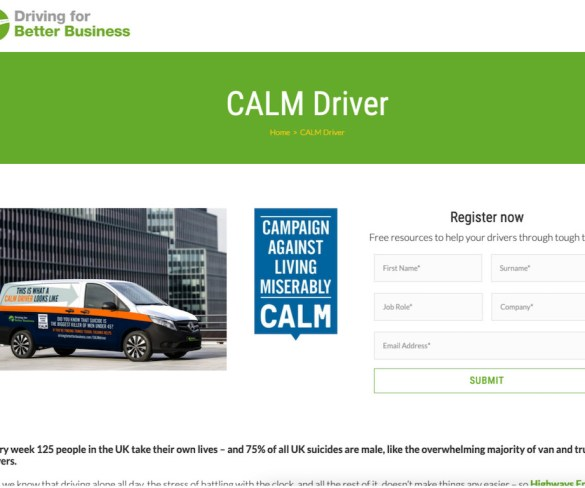 Free mental health resources to support van drivers in pandemic