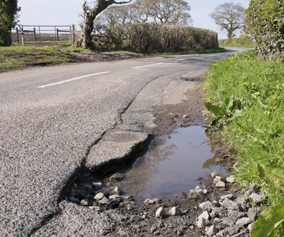 Potholes now more rising concern for motorists than drink driving or texting