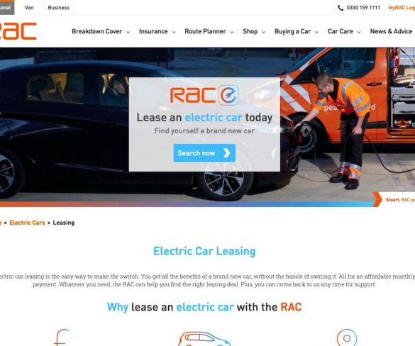 RAC joins forces with Hitachi Capital Vehicle Solutions for EV leasing service