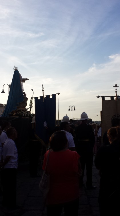 procession at ferragosto