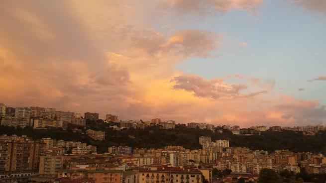 naples golden sky