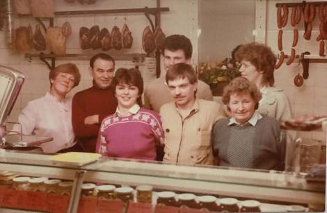 Ehemaliges Verkaufsteam der Fleischerei Oleszynski